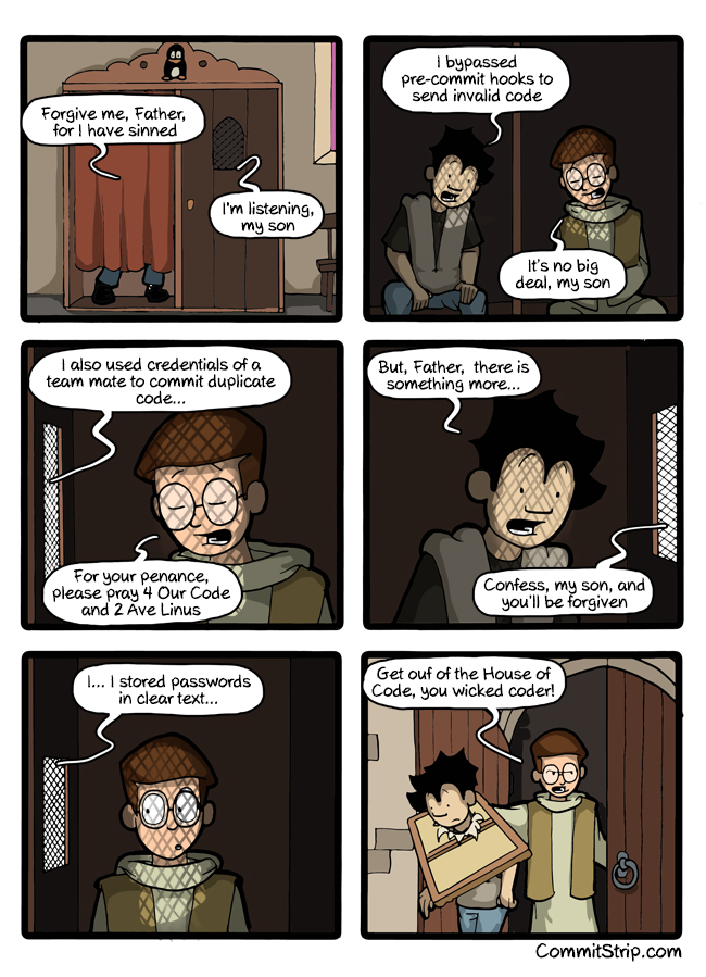 CommitStrip clear text passwords